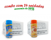 TEMPEROS P/ PIPOCA - Cx 24 FRASCOS - 12 4 QUEIJOS  - 12 PIZZA