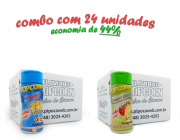 TEMPEROS P/ PIPOCA - Cx 24 FRASCOS - 12 4 QUEIJOS  - 12 TOMATE E QUEIJO