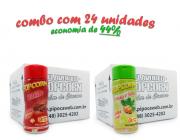 TEMPEROS P/ PIPOCA - Cx 24 FRASCOS - 12 BACON  -12 CEBOLA E SALSA