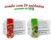 TEMPEROS P/ PIPOCA - Cx 24 FRASCOS - 12 BACON  - 12 PARMESÃO E ALHO
