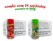 TEMPEROS P/ PIPOCA - Cx 24 FRASCOS - 12 BACON - 12 PIMENTA E LIMÃO