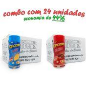 TEMPEROS P/ PIPOCA - Cx 24 FRASCOS - 12 BACON  -12 QUEIJO - Preço Un. de R$ 6,69