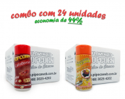 TEMPEROS P/ PIPOCA - Cx 24 FRASCOS - 12 CALABRESA  - 12 MOLHO MEXICANO