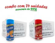 TEMPEROS P/ PIPOCA - Cx 24 FRASCOS - 12 CHEDDAR - 12 CHURRASCO