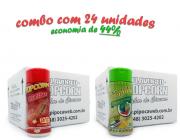 TEMPEROS P/ PIPOCA - CX 24 FRASCOS - 12 CHURRASCO - 12 PIMENTA E LIMÃO