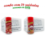 TEMPEROS P/ PIPOCA - CX 24 FRASCOS - 12 CHURRASCO - 12 PRESUNTO