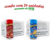 TEMPEROS P/ PIPOCA - CX 24 FRASCOS - 12 CHURRASCO - 12 QUEIJO