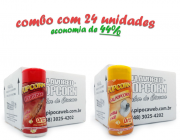 TEMPEROS P/ PIPOCA - CX 24 FRASCOS - 12 CHURRASCO - 12 SAL POPCORN