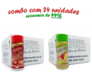 TEMPEROS P/ PIPOCA - CX 24 FRASCOS - 12 CHURRASCO - 12 TOMATE E QUEIJO