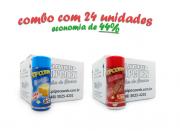 TEMPEROS P/ PIPOCA - Cx 24 FRASCOS - 12 MANTEIGA - 12 CHURRASCO