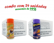 TEMPEROS P/ PIPOCA - Cx 24 FRASCOS - 12 MOLHO MEXICANO - 12 QUEIJO NACHO