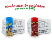 TEMPEROS P/ PIPOCA - Cx 24 FRASCOS - 12 PARMESÃO - 12 CALABRESA