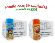 TEMPEROS P/ PIPOCA - Cx 24 FRASCOS - 12 PARMESÃO - 12 FRANGO ASSADO