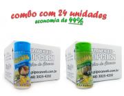 TEMPEROS P/ PIPOCA - Cx 24 FRASCOS - 12 PARMESÃO - 12 PARMESÃO E ALHO