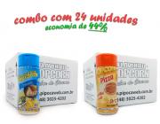 TEMPEROS P/ PIPOCA - Cx 24 FRASCOS - 12 PARMESÃO - 12 PIZZA