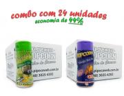 TEMPEROS P/ PIPOCA - Cx 24 FRASCOS - 12 PARMESÃO E ALHO - 12 QUEIJO NACHO