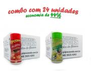 TEMPEROS P/ PIPOCA - Cx 24 FRASCOS - 12 PICANHA - 12 PIMENTA E LIMÃO