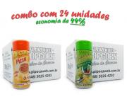 TEMPEROS P/ PIPOCA - Cx 24 FRASCOS - 12 PIZZA - 12 PIMENTA E LIMÃO