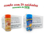TEMPEROS P/ PIPOCA - Cx 24 FRASCOS - 12 PIZZA - 12 QUEIJO