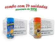 TEMPEROS P/ PIPOCA - Cx 24 FRASCOS - 12 QUEIJO - 12 MOLHO MEXICANO