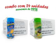 TEMPEROS P/ PIPOCA - Cx 24 FRASCOS - 12 QUEIJO - 12 PARMESÃO E ALHO