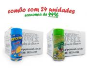 TEMPEROS P/ PIPOCA - Cx 24 FRASCOS - 12 QUEIJO - 12 PIMENTA E LIMÃO