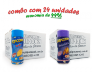 TEMPEROS P/ PIPOCA - Cx 24 FRASCOS - 12 QUEIJO - 12 QUEIJO NACHO