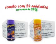 TEMPEROS P/ PIPOCA - Cx 24 FRASCOS - 12 QUEIJO NACHO - 12 SAL POPCORN
