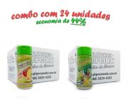 TEMPEROS P/ PIPOCA - Cx 24 FRASCOS - 12 TOMATE E QUEIJO - 12 PIMENTA E LIMÃO