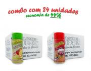 TEMPEROS P/ PIPOCA - Cx 24 FRASCOS - 12 TOMATE E QUEIJO - 12 PRESUNTO