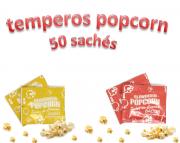 Temperos Popcorn 50 sachês. 25 Bacon e 25 Queijo.