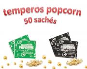 Temperos Popcorn 50 sachês. 25 Cebola e Salsa e 25 Sal Popcorn.