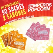 Temperos Popcorn 50 sachês. 25 Churrasco e 25 Sal do Himalaia.