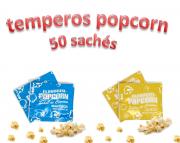 Temperos Popcorn 50 sachês. 25 Manteiga e 25 Queijo.