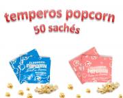 Temperos Popcorn 50 sachês. 25 Manteiga e 25 Sal do Himalaia.