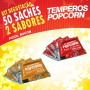 Temperos Popcorn 50 sachês. 25 Pizza e 25 Bacon.
