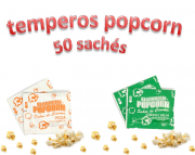 Temperos Popcorn 50 sachês. 25 Pizza e 25 Cebola e Salsa.