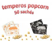 Temperos Popcorn 50 sachês. 25 Pizza e 25 Sal Popcorn.