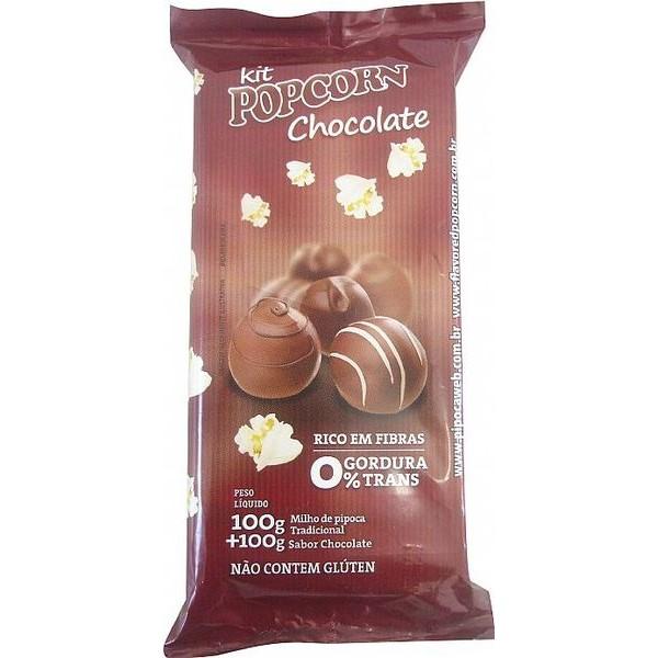 Pipoca Doce Tradicional Panela - sabor Chocolate