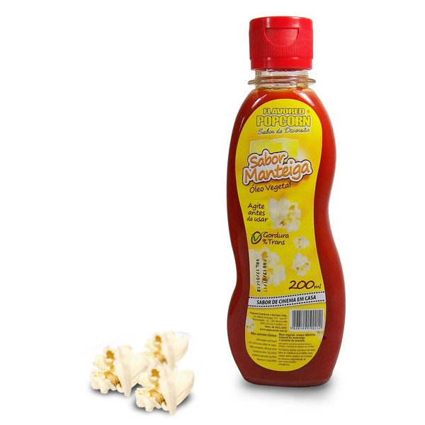 MANTEIGA DE CINEMA - ÓLEO VEGETAL SABOR MANTEIGA POPCORN 200ml