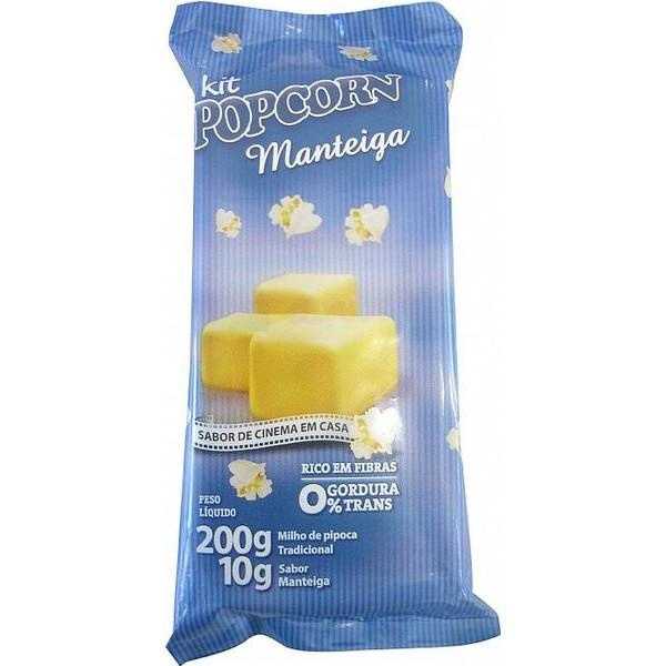 Pipoca Salgada Tradicional Panela - sabor Manteiga