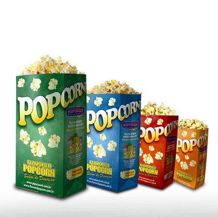Embalagens Sacos p/ Pipocas - MEGA (Família) - Pacotes c/ 25 - 100 - 500 un