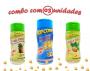 Combo Popcorn - 03 Sabores - 4 Queijos, Cebola e Salsa e Ervas Finas