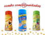 Combo Popcorn - 03 Sabores - 4 Queijos, Molho Mexicano e Pimenta e Limão