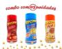 Combo Popcorn - 03 Sabores - 4 Queijos, Pizza e Bacon