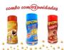 Combo Popcorn - 03 Sabores - 4 Queijos, Presunto e Molho Mexicano
