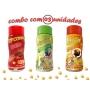 Combo Popcorn - 03 Sabores - Bacon, Pimenta e Limão e molho mexicano
