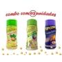 Combo Popcorn - 03 Sabores - Cebola e Salsa, Pimenta e Limão e Queijo Nacho