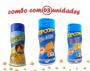 Combo Popcorn - 03 Sabores - Cheddar, 4 Queijos e Parmesão