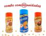 Combo Popcorn - 03 Sabores - Cheddar, Frango Assado e Pizza